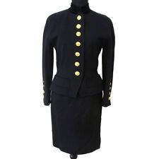 Authentic CELINE Vintage Logos Long Sleeve Setup Jacket Skirt BK #38 S05827