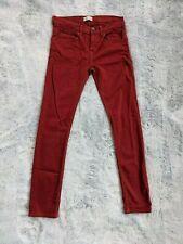 "Zara Boys Collection Size 11 / 12 Skinny Red Denim Pants 28"" Inseam Jeans EUC"