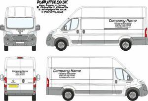 Medium or Large Van Sign Writing decal kit vehicle advertisement business