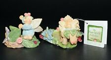 Fran Welch Collection Spring Fairy Mini Tea Light Votive Candle Holders Trinket