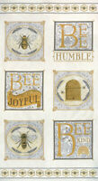 "MODA Fabric Panel ~ BEE JOYFUL ~ Deb Strain (19870 14) Laurel White 24"" x 45"""