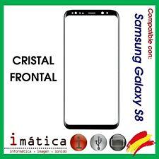 CRISTAL FRONTAL DE PANTALLA PARA SAMSUNG GALAXY S8 G950 G950F EXTERIOR NEGRO