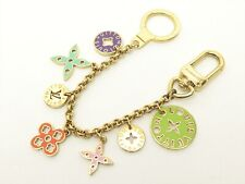 Louis Vuitton Authentic Metal porte cles chaine looping Key Chain Bag Charm Auth