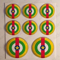 Pegatinas República Centroafricana Escarapela 3D Relieve Pegatina Bandera Diana