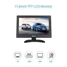 "11.6"" Inch 1366x768 TFT LCD Color Monitor BNC HDMI VGA AV For DSLR PC CCTV DVD"