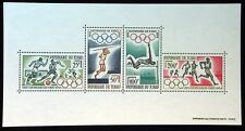 Chad 1964 Tokyo Japan Olympic Games Souvenir Sheet 4 Stamps Fresh and Bright! |