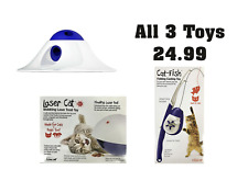 L'Chic Cat Toy Bundle - Laser Dome - Fishing Rod - Snack Ball Puzzle - NQP