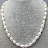 GENUINE NATURAL AKOYA PEARL NECKLACE 9x11MM 18""