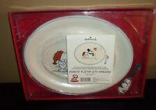 Hallmark Peanuts Snoopy Platter with Spreader Christmas Snow Scene