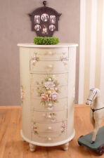 ROMANTIC DRESSER Country Style Rose Painting Drawers Wardrobe Shabby Chic
