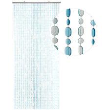 HAB & GUT Türvorhang OVAL, HELLBLAU / BLAU, Kunststoff, 90 x 200 cm