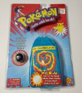 POKEMON COLLECTOR MARBLE POUCHES SERIES 2 CHARMELEON #5 POWER MARBLES BLUE POUCH
