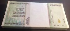 100 x ZIMBABWE $ 50 TRILLION DOLLARS - UNCIRCULATED - $50,000,000,000,000 P90
