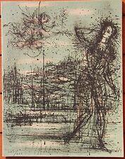 Lithographie de Jean CARZOU signée carte de voeux 1964 +