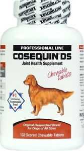 Cosequin DS Capsules 132ct Joint health for Dogs Double strength chewable tablet