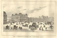PARIS GARE SAINT-LAZARE RECONSTRUCTION LA NOUVELLE GARE IMAGE 1885 OLD PRINT