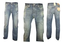 Jeans Levis 501 Uomo Strappati W 30 31 32 34 Pantaloni Denim Nuovi blu classico