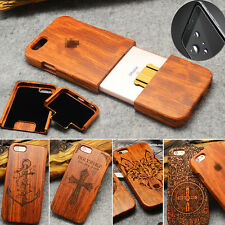 Phone Fitted Case Natural Wood Bamboo Carved Cover For iPhone X XS Max 8 Plus 7
