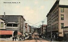 MAIN STREET BERLIN NEW HAMPSHIRE LUNCH ROOM SIGN POSTCARD 1914