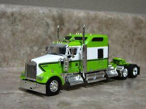 DCP 1/64 Lime Green Black White Kenworth W900 Semi Truck Farm Toy