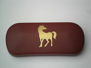 WILD PONY HORSE WALKING brand new metal glasses case great gift!!