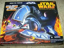 """Star Wars Revenge of the Sith Droid Tri-Fighter 3.75"""" Hasbro"""