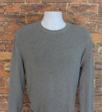 Forever 21 Sweater Men's Size Large Gray Long Sleeve Crew Neck Cotton