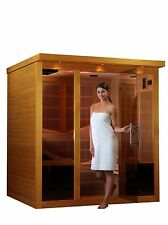 Dynamic 6 Per Monaco ZERO EMF Far Infrared Sauna 15 Carbon Heating Panels New