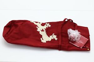 Pottery Barn Sleigh Bell Crewel Embroidered Wine Bag NEW IN PACKAGE!