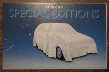 CITROEN SPECIAL EDITIONS 1982 Sales Pack Dyane Cote D'Azur Visa Drapeau Platinum
