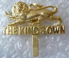 Staybrite The King's Own Royal Lancaster Regiment Kings Badge Anodised JR GAUNT
