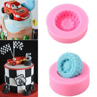 3D Car Tires Silicone Fondant Mold Cake Decorating Baking Sugarcraft Mould Tools