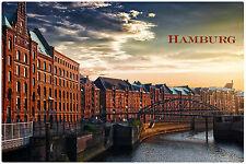 Kühlschrank Magnet HAMBURG 2 DEUTSCHLAND GERMANY vinyl Foto gut zu wissen