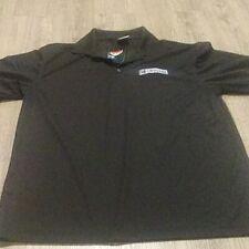 new Nike Golf Polo Black Dri Fit Short Sleeve Shirt Mens Polo 363807-010 L