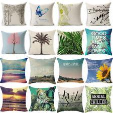 """18"""" Fashion Natural Linen Cotton Throw Pillow Case Cushion Cover Home Sofa Decor"""