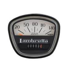 LAMBRETTA Speedo 140KPH GP Italian Thread Black/White Face