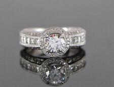 Anillos de joyería de oro blanco diamante