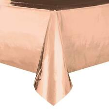 ROSE GOLD PLASTIC PARTY TABLE COVER NEW GIFT