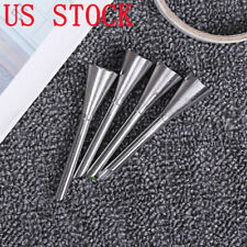 4 Stainless Long Puff Cream Icing Piping Nozzle Tip Cake Pastry Confectionery