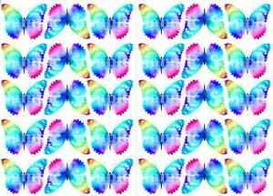 30 RAINBOW My Little Pony Butterflies Edible Butterfly Birthday cup cake Toppers