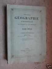 Nouvelle géographie E.Reclus Tome X Afrique septentrionale 1884 Hachette