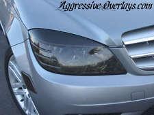 Mercedes C300 C350 C-Class Smoke Head Light Overlay