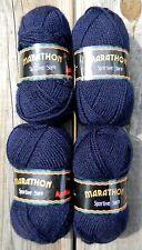 4 Skeins of Marathon Sportive Yarn by Katia Navy Blue Made in Spain