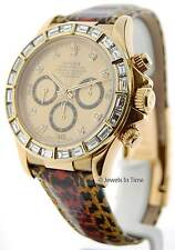 Rolex Daytona Yellow Gold Mens Automatic Watch w/ Diamonds