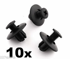 10x Honda Plastik Rand Klemmen, 8mm für Rad Bogen Auskleidungen, Haube & andere