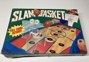 1995 Slam Bas-ket full court Board Game Vintage Cadaco Action