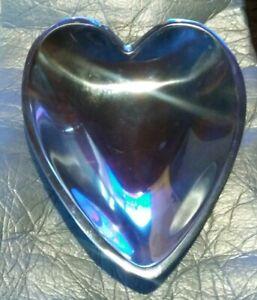 "Nambe 118B Heart Shaped 8.5"" Bowl Dish"