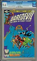 Daredevil #172 CGC 9.6 White Bullseye Kingpin app Frank Miller