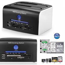 "USB 3.0 Dual Bay 2.5"" /3.5"" SATA HDD External Hard Drive Clone Docking Station"