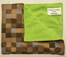 WEIGHTED lap pad 1kg shoulder Minecraft AUTISM Aspergers ADHD brown green